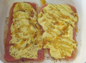Honey Dijon Salmon - Uncooked
