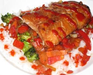 Sweet & Spicy Teriyaki Salmon Stir Fry