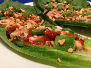Quick Easy Chicken Lettuce Wraps
