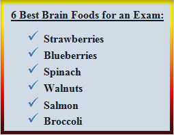 6 Best Brain Foods for Exams