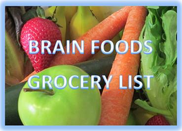 Brain Foods Grocery List
