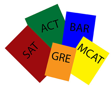Test Books Pic - SAT, ACT, GRE, MCAT, BAR Exam