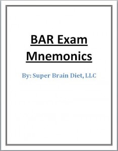 Bar Exam Mnemonics Cover Page