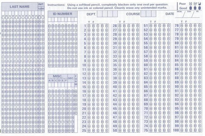 Bar Exam Scantron
